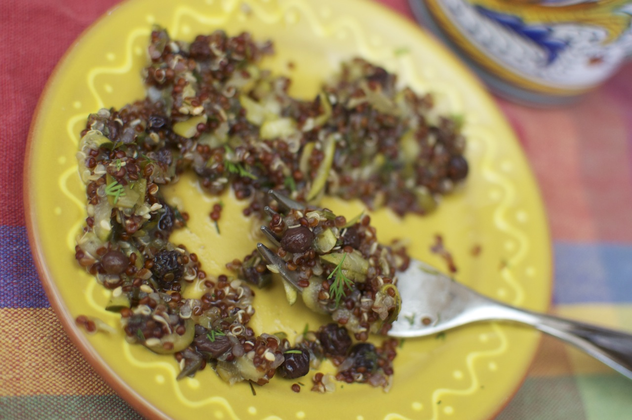 Quinoa With Currants, Dill, And Zucchini Recipe — Dishmaps